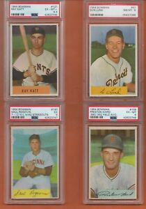 Details About Preston Ward 139 Variation 1954 Bowman Baseball Card Graded Psa 6 One Card