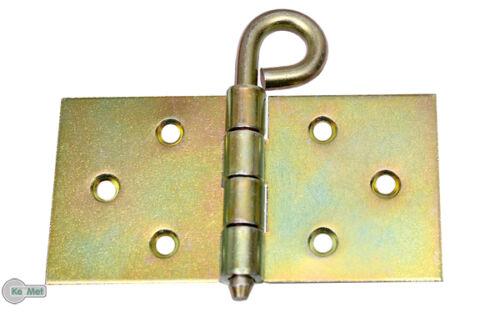 10 Kulissenscharniere Tischbänder Breit 50 x 100 x 2,0 Tischband lose Stift Gelb
