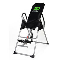 Inversion Table Deluxe Fitness Chiropractic Table Back Pain Relief Exercise on sale