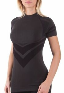 Bellissima-Women-039-s-Sport-T-Shirt-Yoga-Workout-Running-Compression-Seamless-Top