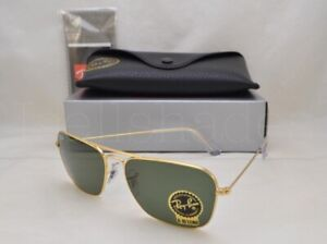 b0b7fc1b6b Ray Ban CARAVAN (RB3136-001 55) Arista with Crystal Green Lens ...