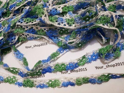 1 Yard Beautiful stylish embroidered  lace trimming ribbon dress making craft