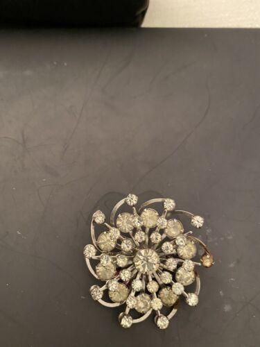 """1950's Vintage Brooch, 1 3/4"""" Diameter /rhinestone"""