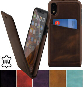 IPHONE-XR-Case-Flip-Style-Real-Leather-Pouch-Case-Phone-Flip-Cover-Case