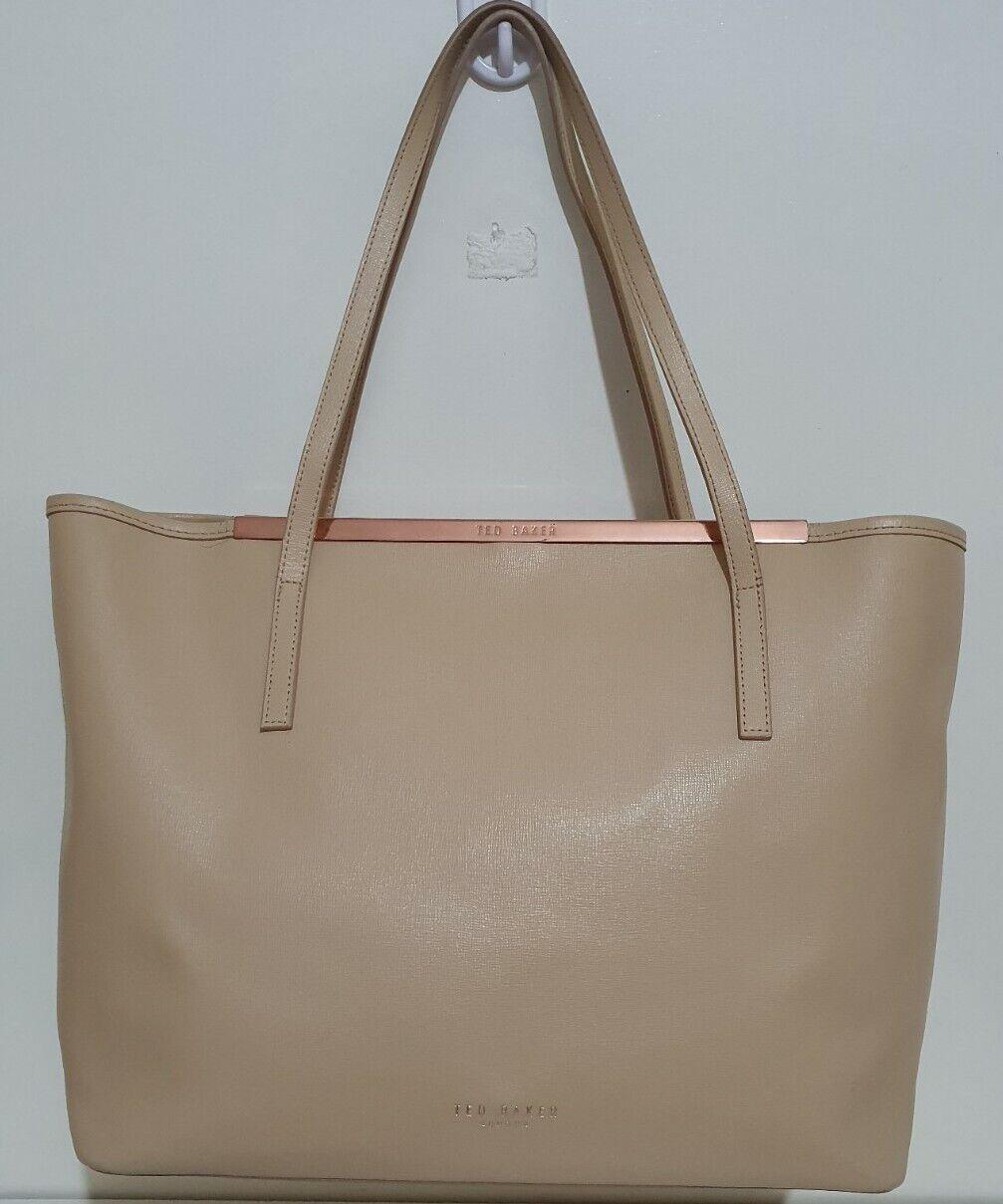Ted Baker beige leather large shoulder tote bag