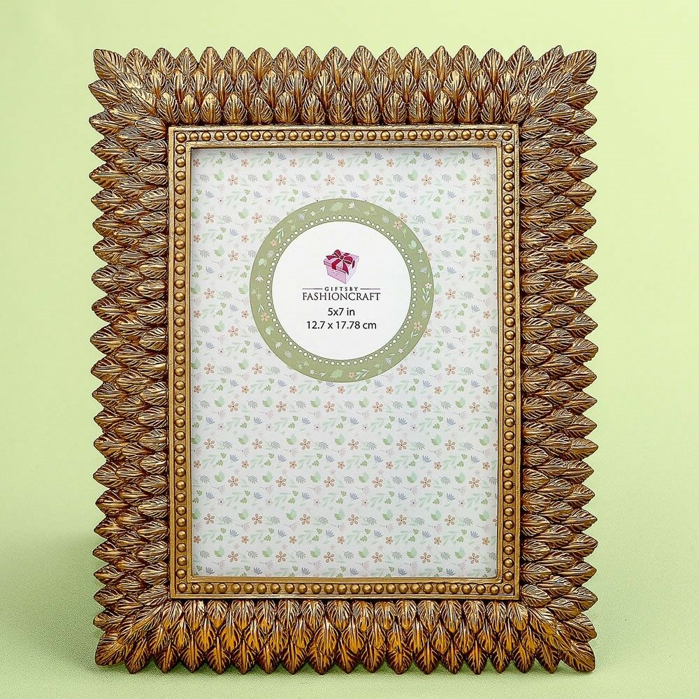 15 Brushed Gold Leaf Wedding Bridal Shower Party Table Décor Frames