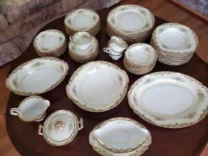 Noritake-Carmela-China-Set-Occupied-Japan-Antique-Vintage