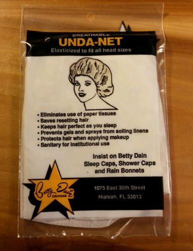 "1960/'s Vtg NOS Betty Dain /""UNDA-NET/"" Pink BOUFFANT Hair NET Made In USA In PKG"