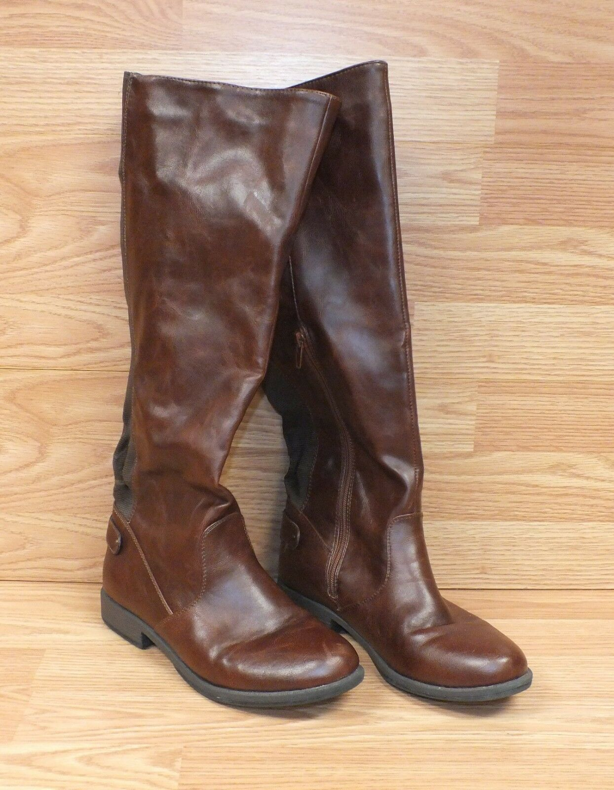 Genuine Bamboo Brown Knee High Women's Size 8   38 Fall Style Boots READ