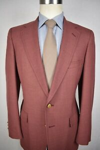 Austin Reed Solid Light Red Worsted Wool Two Button Sport Coat Size 38r Ebay