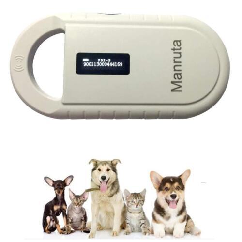 manruta Rechargeable 134.2khz Animal ID Microchip Scanner FDX-B ISO 11784//11785
