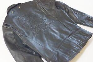 Vintage Davidson 44 Cuir Homme Aigle Rare Harley L Veste Ciselé Original PtUAq