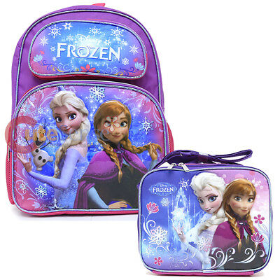 "16/"" Disney Frozen Large Purple School Backpack for Girls Elsa and Olaf Anna"