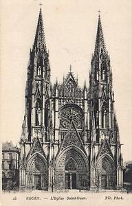 1900-039-s-VINTAGE-ROUEN-L-039-Eglise-SAINT-OUEN-POSTCARD-Saint-Vigor-eveque-de-Bayeu