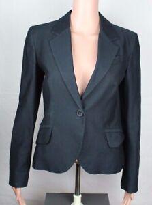 Detalles de Zara Basic Mujer Chaqueta de Traje un Botón Algodón Negro Talla Pequeña