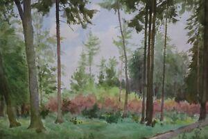 Gustav-Mueller-Aquarell-Waldlichtung-Maifrost-1953
