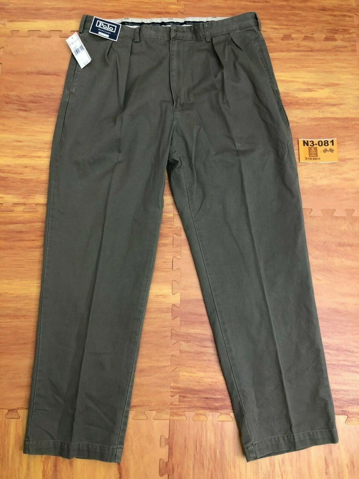 NEW Vintage Polo Ralph Lauren Men's Classic Pleated Green Pant 40x32 7826322 ️N3