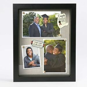 3D Picture Frame 8.5x11 Poster Black Deep Shadow Box Display Case for Graduation