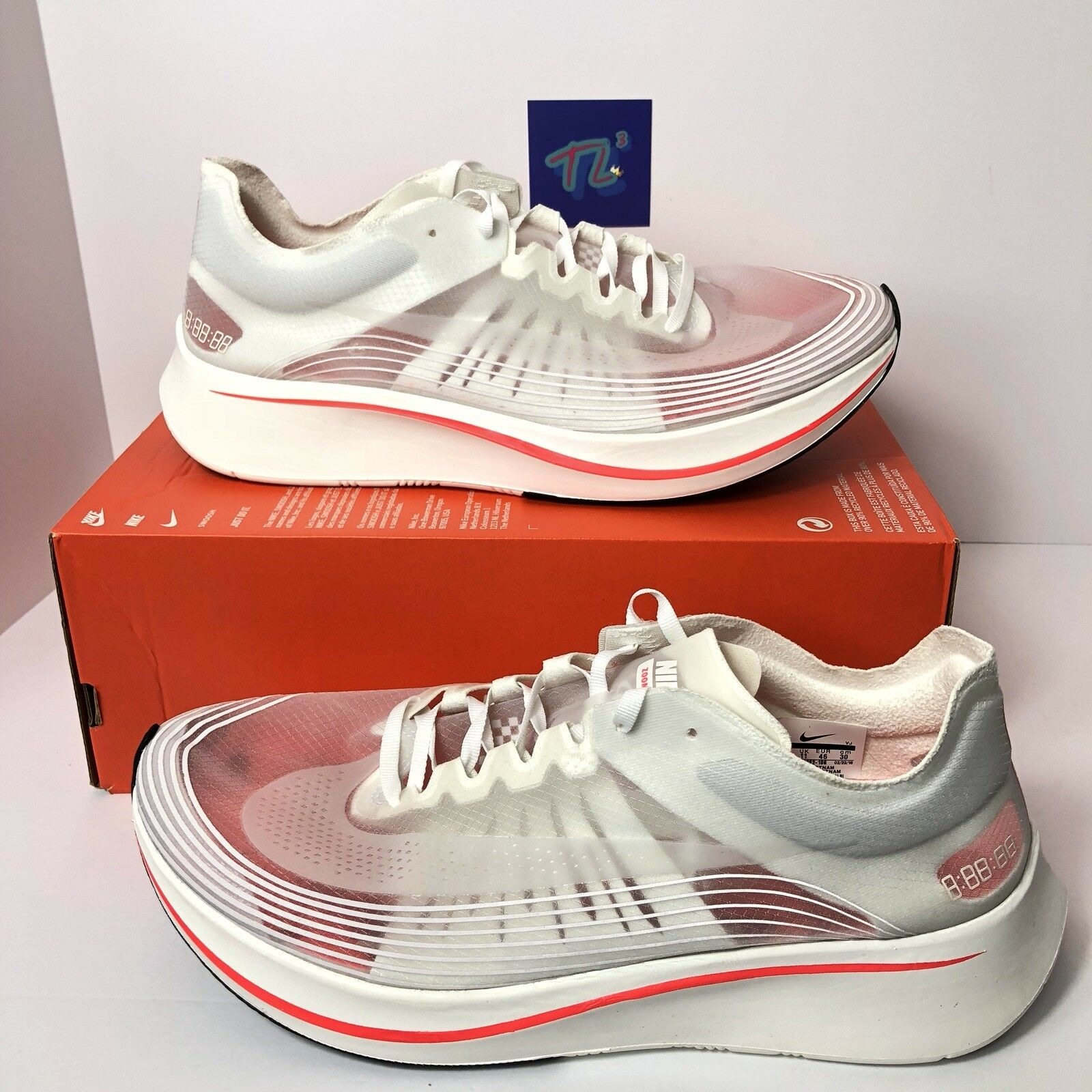 7e22b60300 Men's Zoom Fly SP Breaking 2 AJ9282-106 11.5 White Crimson W Dust Bag Sz  Nike ntrudb6133-Athletic Shoes