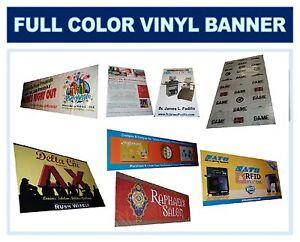 Full Color Banner, Graphic Digital Vinyl Sign 3' X 6'