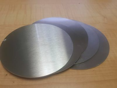 """5/"""" Dia Aluminum Round Disc Circle 6061 .125 1//8/"""" Thick"""