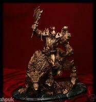 New WOW World of Warcraft Orc Warrior Wolf Rider Riding Wolf Statue Figure