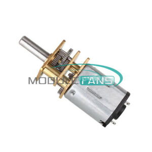 DC 3V 6V 12V//100RPM Micro Speed Reduction Gear Motor Metal Gearbox Wheel Shaft