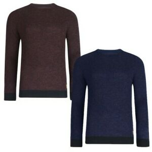 Threadbare-Mens-Donald-Knitted-Jumper-Cotton-Crew-Neck-Textured-Raglan-Sweater