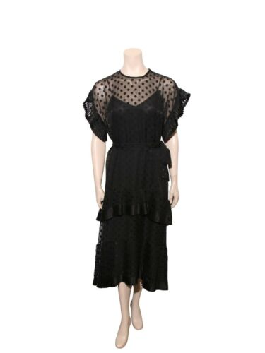 Auth ZIMMERMAN Polka Dot Lace Trim Dress (SIZE S)