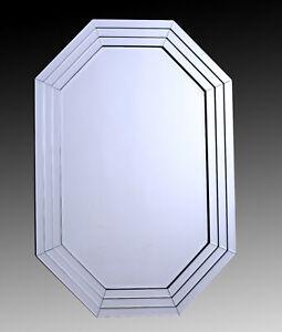 Détails sur Moderne Large Design Décor Contemporain Salon & Chambre à  Coucher Mur de miroirs- afficher le titre d\'origine
