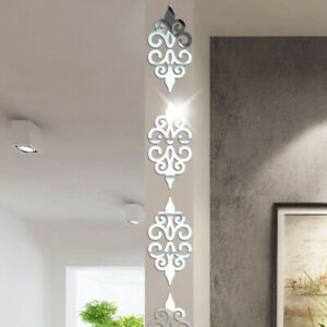 Home Decoration - Mirror Flower Removable 3D Wall Sticker Art Acrylic Mural Decal Wall Home Decor