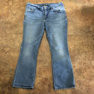 Lee-Riders-Jeans-Mid-Rise-Boot-Cut-16-P-1BMBAW6-Blue-Stretch-16P