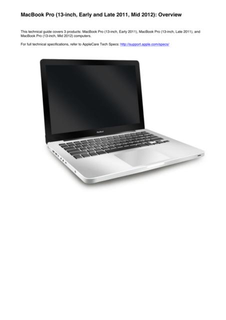 apple macbook pro 13 inch early 2011 mid 2012 technician service rh ebay com MacBook Pro Processor Location MacBook Pro 13 Late 2011