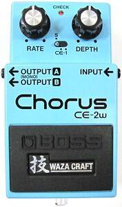 Used Boss CE-2W Waza Craft Chorus Guitar Effects Pedal