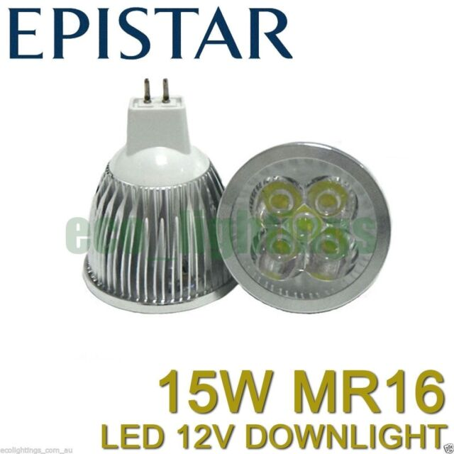 10 X LILIANO LED MR16 15W 12V bulb downlight globe lamp COOL WHITE NON DIMMABLE
