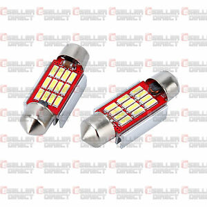 Audi-A3-8P-S3-8PA-UP-TO-2008-12-SMD-LED-Canbus-Number-Plate-Light-Bulbs-White