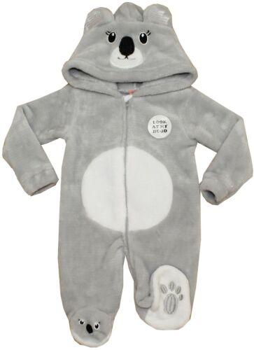 Baby Girl Boy Soft Fleece Hood Ears BodySuit Jumpsuits All In One Koala 3-6