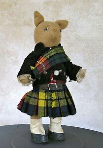 Belle Scotland Master Rabbit,ancien Ours En Habit écossais, Scotland Bear,jouet Ancien Ni Trop Dur Ni Trop Mou