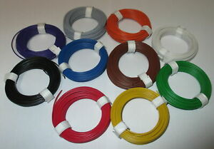 0-1195-M-Stranded-Wire-Flexible-18x0-10-10-Rings-A-10-Meter-New
