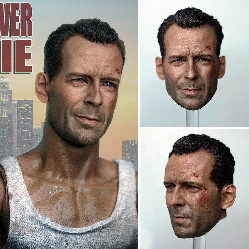 1 6 Scale Male Bruce Willis Old cMasseh Head Sculpt Fit 12 PHICEN Figure