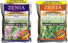 2015 Henna + Indigo Powder For Hair 100g ea Pack USA seller Natural Hair Dye Kit