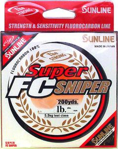 SUNLINE SUPER FC SNIPER FLUOROCARBON 200 YARDS select lb test