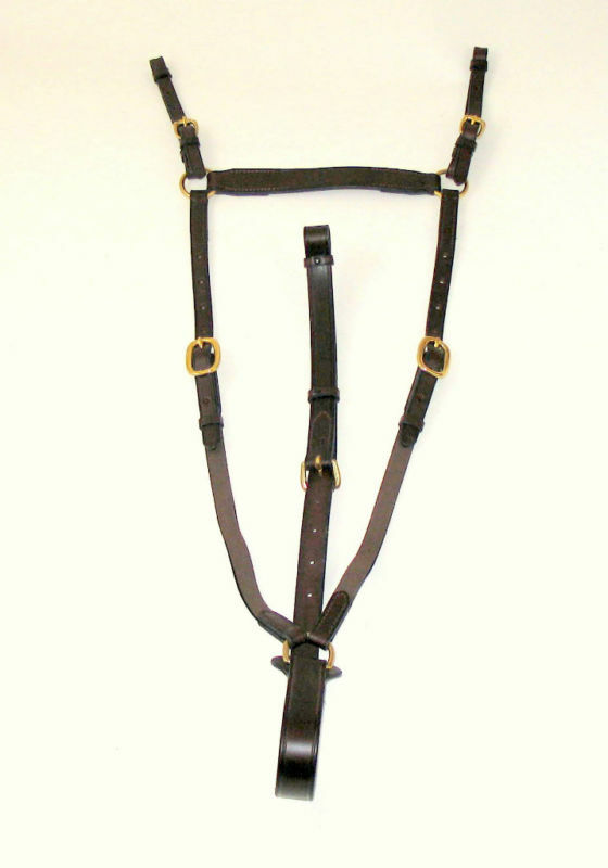 Hunt Breastplate with elastic Steel Horse Größe, Havana/Stainless Steel elastic 30f335