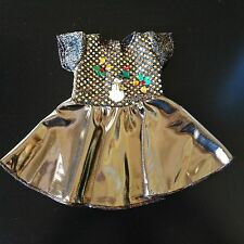 "18"" Doll Clothes Gold Color Christmas Winter Holiday Dress for American Girl"