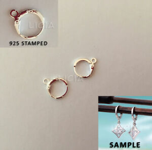 925-Stamped-Sterling-Silver-Round-Earring-Ear-Hooks-Leverback-Open-Ring-Findings