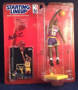 Magic Johnson signed 1998 Edition Starting Lineup PSA/DNA #6A43281