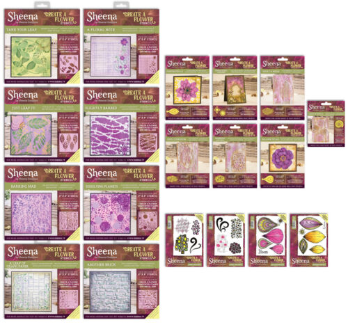 Sheena Douglass CREATE A FLOWER Dies Stencils /& Rubber Stamps Crafters Companion