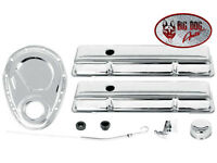 1958 - 1986 Chevy Small Block Chrome Valve Cover And Engine Dress Up Kit