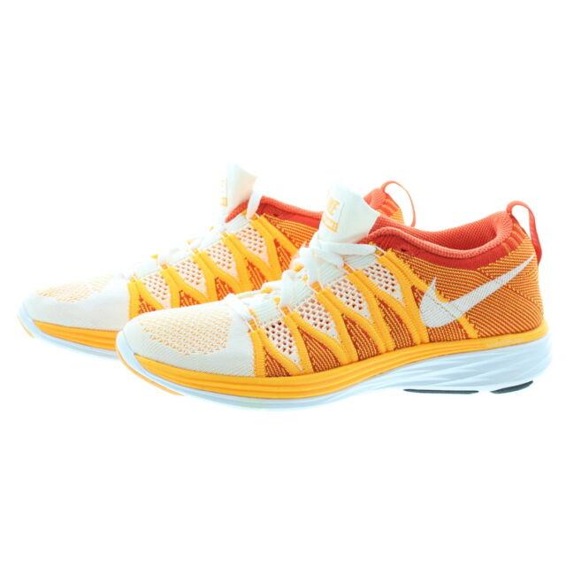 12d71433eb40 Nike 620658 Womens Flyknit Lunar 2 Low Top Running Tennis Shoes Sneakers