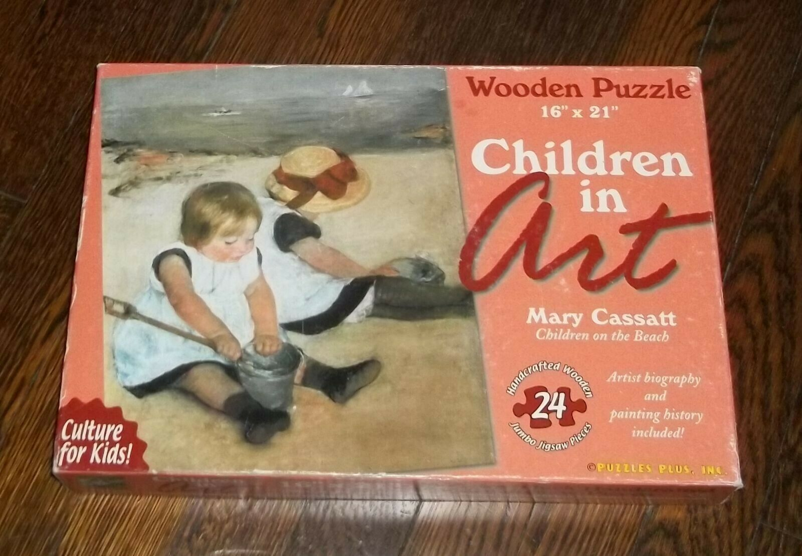 Mary Cassett enfants sur la plage en bois Puzzle 16 en 21 avec 24 pieces